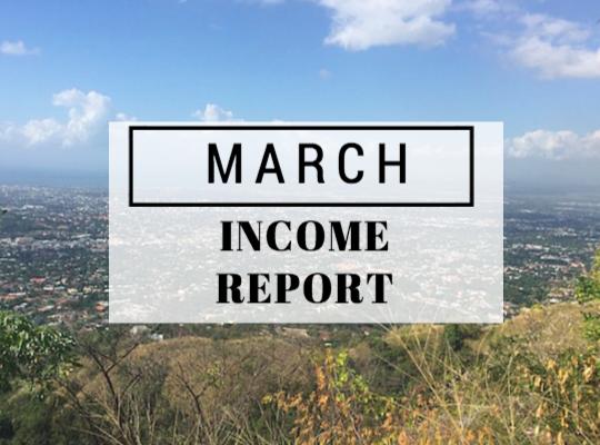 March 2016 Income report